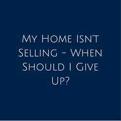 My Home Isn't Selling